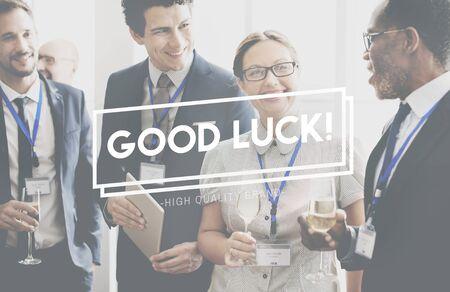 buena suerte: Good Luck Support Lucky Motivation Positivity Concept Foto de archivo