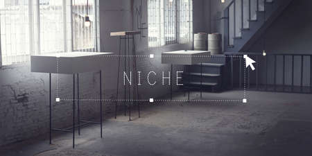 niche: Niche Market Business Branding Marketing Specific Area Concept