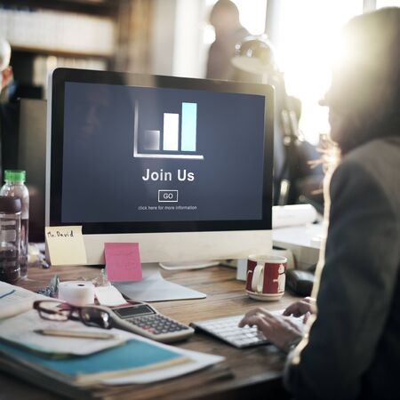 join: Join us Headhunting Company Hiring Concept Stock Photo