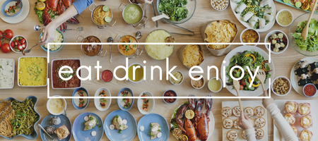 Eat Drink Enjoy Party Food Buffet Togetherness Concept