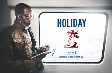 Explore Holiday Journey Travel Explore Concept Stock Photo