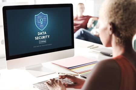 online privacy: Data Security Privacy Online Security Protection Concept