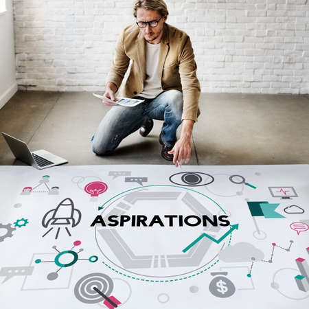 expectation: Aspirations Ambition Desire Goals Target Expectation Concept Stock Photo