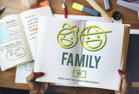 offspring: Concepto de amor de la familia de relación padres Offspring Foto de archivo