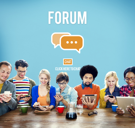 discuss: Discuss Forum Chat Group Topic Concept