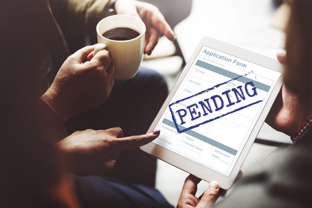 imminent: Pending Application Form Document Reply Concept Stock Photo