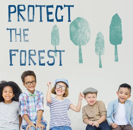 green little planet earth: Protect the Forest Ecological Issue Concept Stock Photo