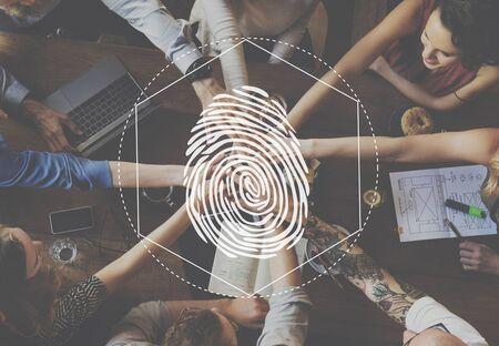 distinction: Fingerprint Security Distinction Access Graphic Concept