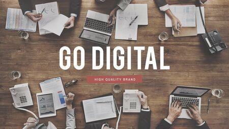 Go Digital Automation Modern Technology Concept