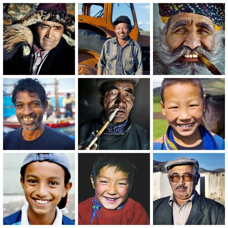 humanism: Diversity Multi-ethnic Asian Culture Concept Stock Photo