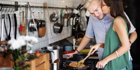 hobby: Couple Cooking Hobby Lifestyle Concept