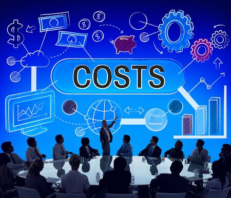 expenditures: Costs Expenditures Finance Budget Bookkeeping Concept Stock Photo