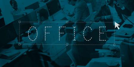 bureaucratic: Office Building Bureaucratic Headquaters Room Concept