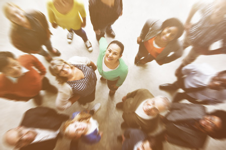 personas mirando: La gente diversa felicidad Amistad Unión Vista aérea Concepto