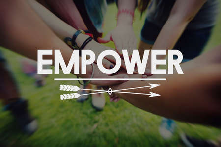 inspire: Empower Enable Inspire Lead Concept Stock Photo