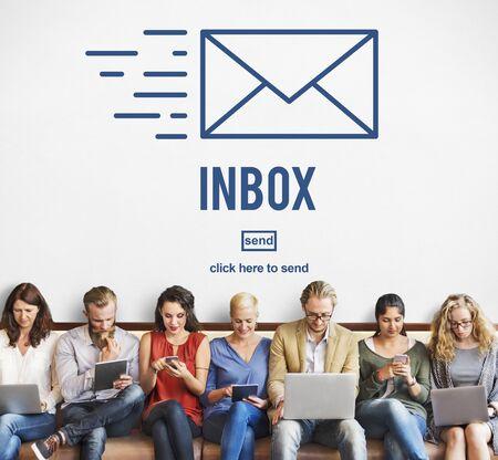 correspondence: Correspondencia por correo electrónico envelpoe Buzón de mensaje Concept