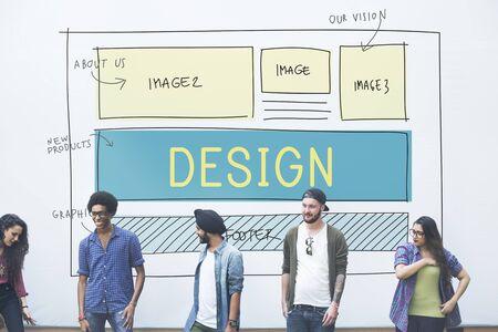 Design HTML Web Design Template Concept Imagens