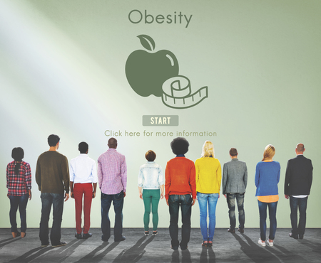unhealthy: Obesity Diet Eating Disorder Unhealthy Diabetes Fat Concept