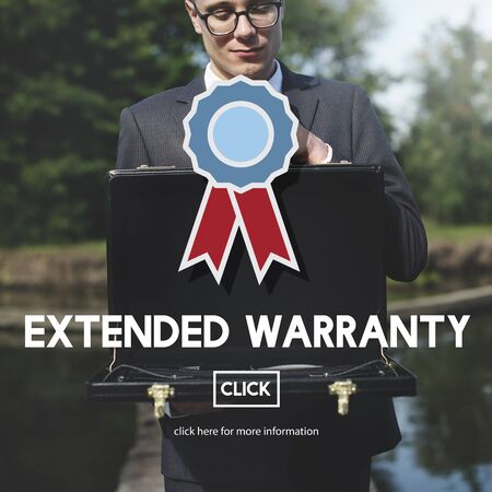 longterm: Extended Warranty Guarantee Long-term Proof Concept Stock Photo
