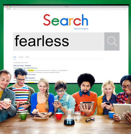 fearless: Fearless Feisty Gutsy Proactive Strength Strong Concept Stock Photo