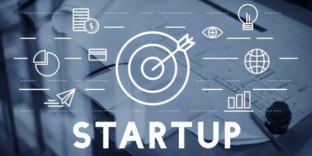 bull's eye: Bulls Eye Goal Mission Icon Start Up Concept Stock Photo