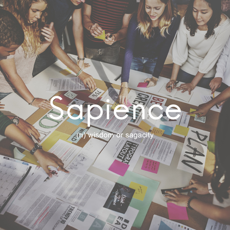 knowledgeable: Sapience Highly Educated People Graphic Concept Stock Photo