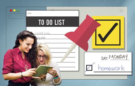 organize: To Do List Time Management Concept