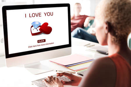 office romance: I Love You Engagement Ring Concept