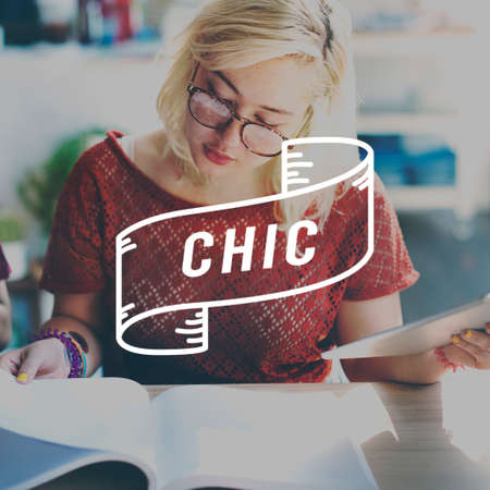 chic: Chic Modern Fashionable Trends Lifestyles Contemporary Concept
