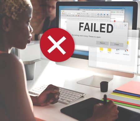 fiasco: Failed Fail Failing Fiasco Inability Unsuccessful Concept