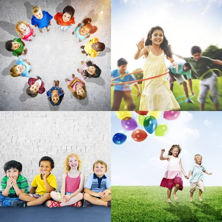 Adolescence Childhood Diversity Ethnicity Friends Concept Stock Photo