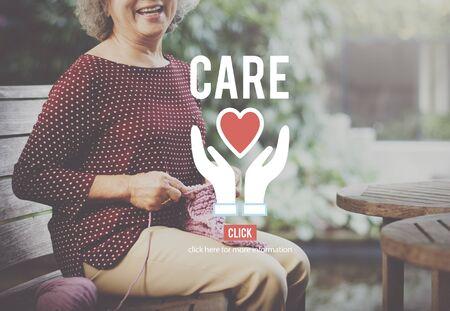 the concern: Care Assurance Concern Help Concept Foto de archivo
