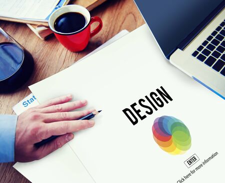 place of research: Design Color Wheel Interface Concept Stock Photo