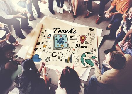 business words: Trends Trend Trending Trendy Fashion Style Design Concept Stock Photo