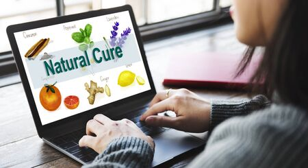 finding a cure: Medicinal Plants Natural Cure Herb Herbalism Concept