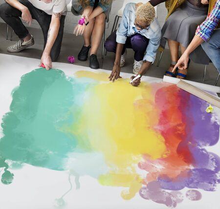 crayon: Painting Coloring Artwork Crayon Creativity Concept Stock Photo