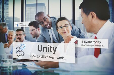 african solidarity: Unity Teamwork Togetherness Partnership Cooperation Concept Stock Photo