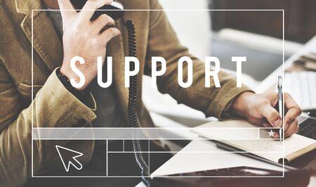 community help: Support Community Help Motivation Advice Aid Concept