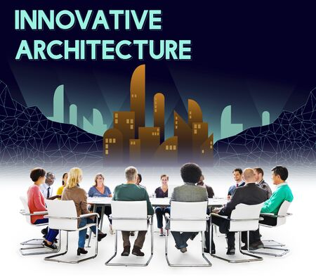 innovative: Innovate Innovative Architecture Skyscraper Structure Concept Stock Photo