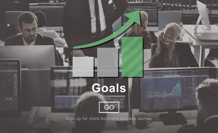 man business oriented: Goals Target Mission Motivation Vision Concept