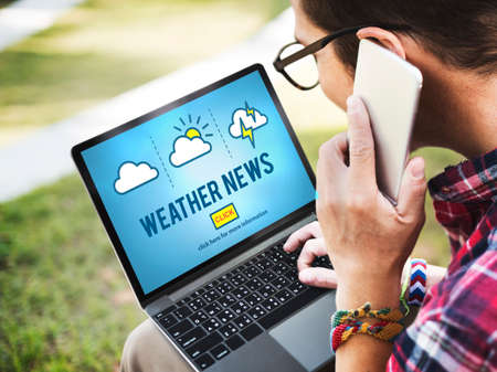 reporter: Weather News Information Reporter Concept