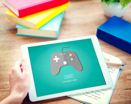 Game Console Entertainment Gadget Electronic Concept Stock Photo