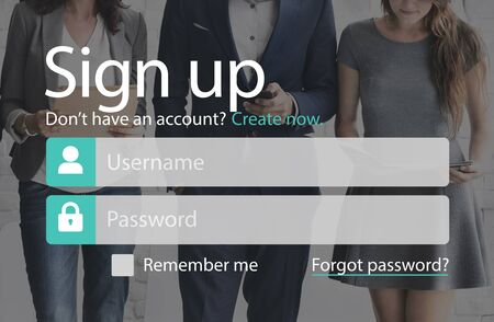 signup: Create Login Connect Signup Technology Concept