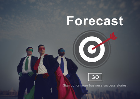 forecast: Forecast Prediction Plan Goal Concept Stock Photo
