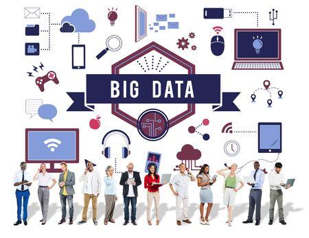 gadget: Big Data Connect Technology Gadget Concept