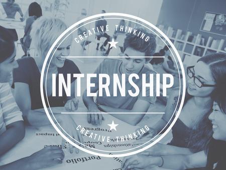 internship: Internship Skills Temporary Management Trainee Concept Stock Photo