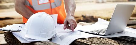 Architect Construction Control Design Engineer Concept Imagens
