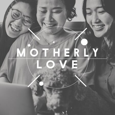 motherly love: Motherly Love Family People Graphic Concept