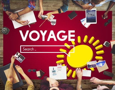 People in a meeting with Voyage internet search