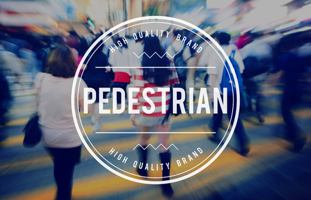 uninspired: Pedestrian Walker Active Foot Traffic Tedious Boring Concept